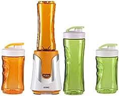 Family de Smoothie maker 300 W naranja, 4 botellas (300ml & 600 ml por 2 en Color... de Domo