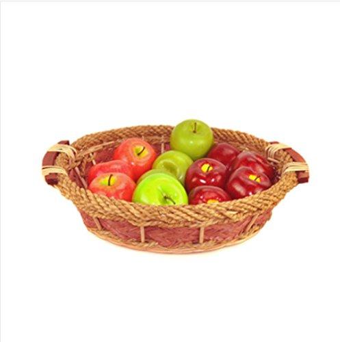 Z@SS-Bambus-Körbe mit Obst und Gemüse Snacks Display Speicher Korb Oval Korb Korb Korb Supermarkt Warenpräsentation (Oval-speicher-körbe)