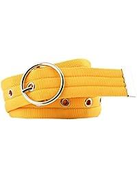 42f8a98ac839 Bevalsa Ceinture tissu unisexe ceintures etoffe hommes ceinture femmes  ceinture en boucle en métal Respirant Sports