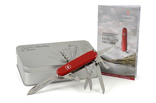 Box Taschenmesser Mit (Victorinox Huntsman Taschenmesser Geschenk-Box mit Wunschgravur)
