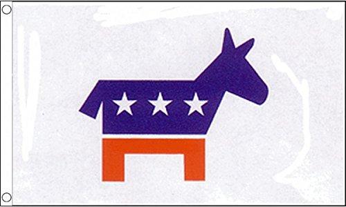 5ft x 3ft (150x 90cm) Demokratische Partei Demokraten USA United States 100% Polyester Material Flagge Banner Ideal für Club Schule Business Party Dekoration (Schulen Demokratische)