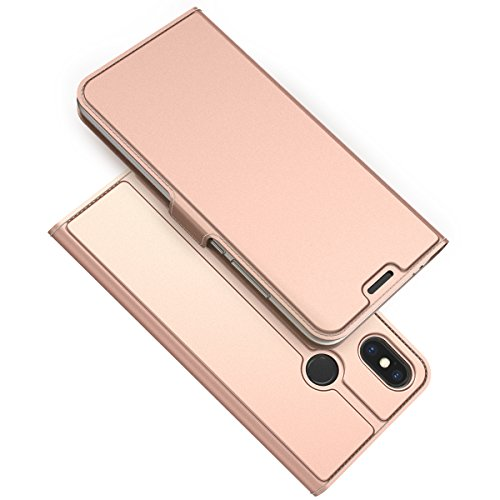 Casefirst for Xiaomi Mi 8 Case, [Extra Card Slot] [Wallet Case] PU Leather TPU Casing Flip [Drop Protection] Cover for Xiaomi Mi 8, Rose Gold
