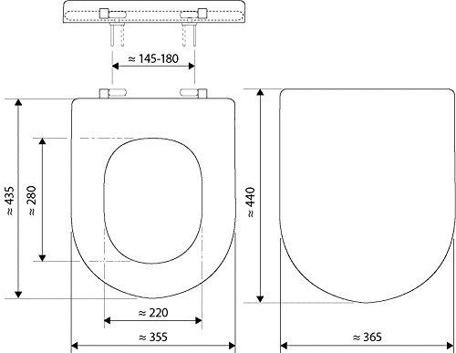 WC-Sitz Edelstahl-Befestigung