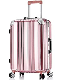 Z/&YY Aluminum Frame Trolley case Luggage Suitcase Universal Wheel Female Male Student Password Box Luggage Small Board Chassis Purple Black Rose Gold 20 inches 24 inches 28 inches