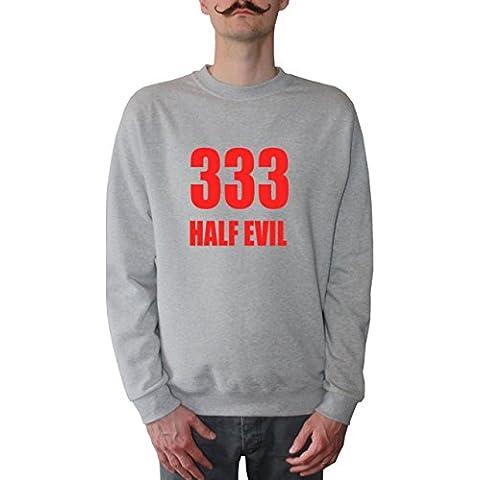 Mister Merchandise Sudadera para Hombre 333 Half Evil 666 Devil Sweatshirt