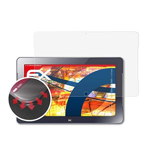 atFolix Schutzfolie passend für Samsung Ativ Tab 5 (Smart PC 500T) 11.6 Inch Folie, entspiegelnde und Flexible FX Displayschutzfolie (2X) - Pc Samsung Smart 500t