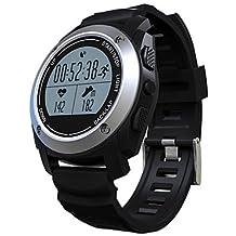 Lemumu S928 Los hombres WomanSmar twatch/GPS/temperatura/presión/altura Heartrate/Caballo/Montañismo/ Ejecuta/step/Posicionamiento para el IOS, Android, plata