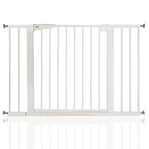 BabyDan Premier Wahre Druck Weiß Schutzgitter Treppengitter Türschutzgitter 105,5 - 112,8cm