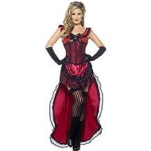 Smiffys, Damen Western Bordell-Schätzchen, Kleid und Korsett, Größe: L, 45233