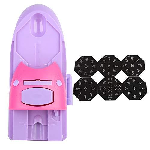 Liukouu Nail Printing Machine, Nail Art Printer Nail Art DIY Pattern Printing Stamper Machine Manicure Tool(Scatola rossa senza olio)