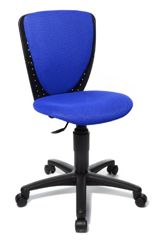 Topstar High S'cool Kids and Youths Swivel Chair with Height Adjustable Spinal Column Support - Blue
