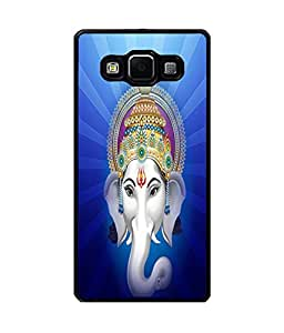 Fuson Premium Beautiful Ganesha Metal Printed with Hard Plastic Back Case Cover for Samsung Galaxy E5
