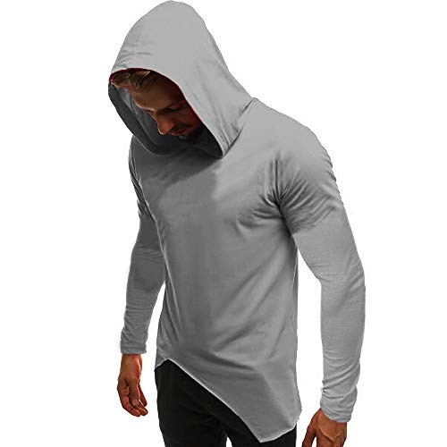 (Langarmshirts Sannysis Herren Slim Fit Hoodie Männer Kapuzen Sweatshirt Outwear Freizeit Sport Pullover Tops Basic Kapuzenpullover)