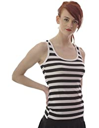 Fitted Vest Top with Racer Back - size 8 to 16 - Striped or Polka Dot