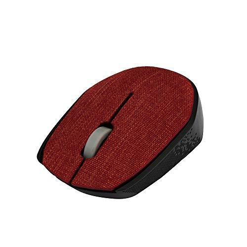 KERULA 2,4 GHz schlanke tragbare optische drahtlose Maus Gaming Soft Fabric Cover MäuseMaus Computer Ergonomische Leise Tragbar Mouse Wiederaufladbar MäUse Kabellos Tasten Mit EmpfäNger ()