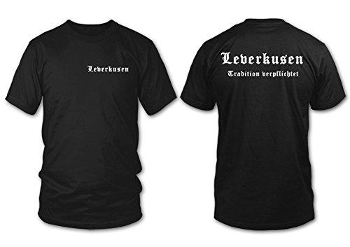 shirtloge - LEVERKUSEN - Tradition verpflichtet - Fan T-Shirt - Größe S - XXL Schwarz
