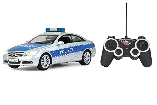 RC Auto kaufen Spielzeug Bild: Jamara 403705 - Mercedes E350 Coupe 1:16 Polizei - deutsche Polizeisirene, Startton, Beschleunigungston, Bremston, Hupe, Zusperrton, Signalleuchte, Blinker, 4 Geschwindigkeiten*