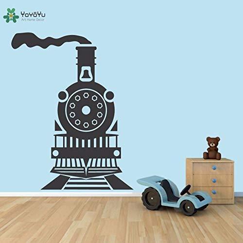 zhuziji Decalcomania da Muro in Vinile Old Driving Train Transportation Fun Child Child Decorations Accessories Sticker 85.5x111cm
