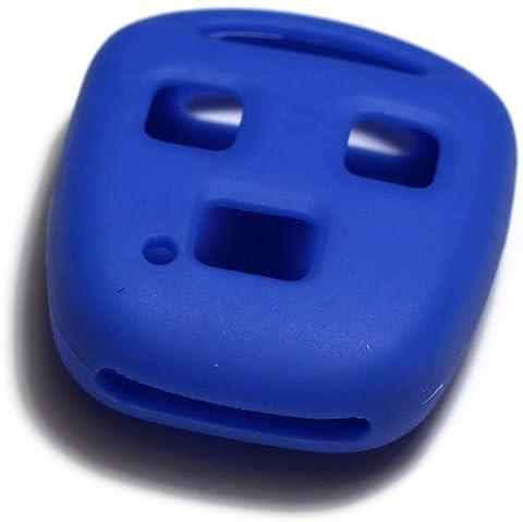 dantegts Bleu Housse étui en silicone clé fob Télécommande intelligente Pochettes Protection Clé chaîne Compatible avec: Lexus SC40098–00