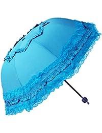 Sabarry UV – Paraguas automático bastón Paraguas Mujer Double Layer Resistente al Viento ...