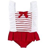 Trajes de baño Lindo Disfraces niña de natación de baño SuitRuffle baño de una Pieza del Traje de baño más cómodo para Las niñas Niños (Color : Red, Size : 6T)