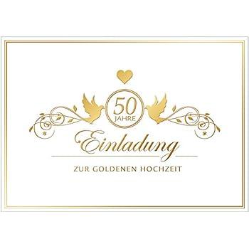 Hochzeitskarten Goldene Hochzeit 40 Sets Hinreissend