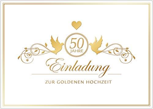erh ltlich im 1er 4er 8er set einladung zur goldenen hochzeit edle einladungskarte zur. Black Bedroom Furniture Sets. Home Design Ideas