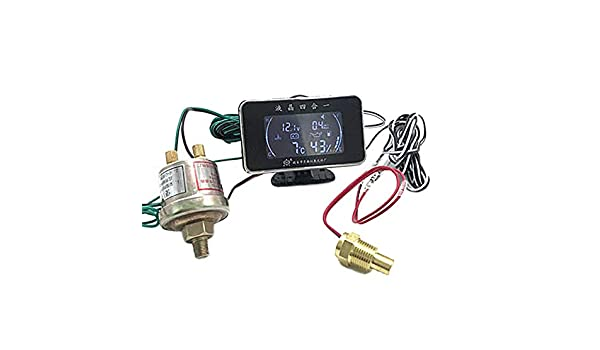 4 in 1 Öldruckmessgerät temperaturmesser voltmeter mit drucksensor