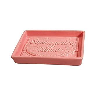 Au Bain de Marie Keramik-Seifenschale, Pink