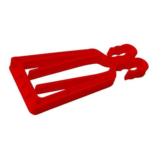 Porte-skis et bâtons KlipSki en rouge (la paire) - rapide et simple d'emploi, pour les experts comme pour les bambins