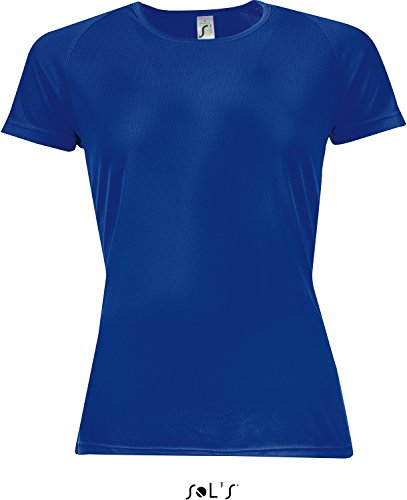 SOL´S Womens Raglan Sleeves T Sporty, L, Royal Blue (Coupe Green Apple)