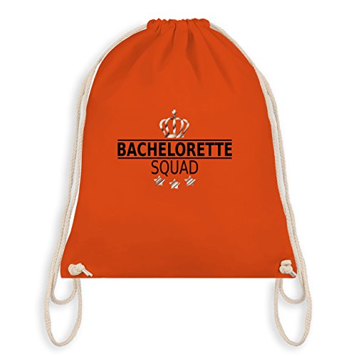 JGA Junggesellinnenabschied - Bachelorette Squad Krone - Turnbeutel I Gym Bag Orange
