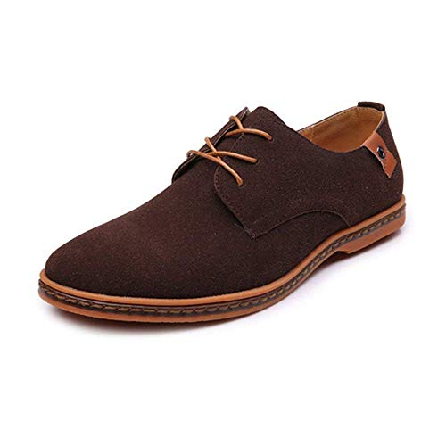 pretty nice e5b7e dc962 Mens Classic Microfibre Leather Oxford Shoes Lace up(darkbrown43)