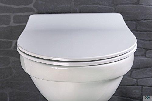 Luxus Premium WC-Sitz FLAT || Der pure LUXUS Klo-Sitz || Extra Slim mit Absenkautomatik / Click-System zur Schnellreinigung || Belastbar bis 200 kg (Slim-Line)
