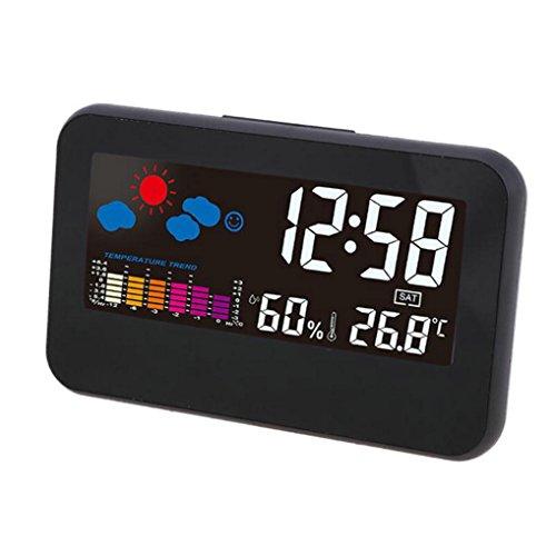 GuDoQi Relojes Despertador Digital Relojes De Escritorio Luz De Fondo Despertadores De Viaje Control...
