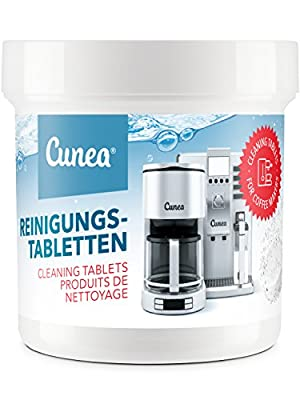 Cunea Cleaning Tablets for Coffee Machines and Coffee Machines