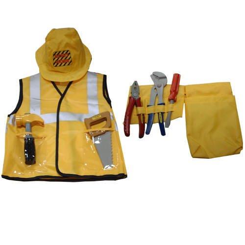 Kinder-Kostüm Bauarbeiter gelb, 3-7 (Baumeister Kostüm Der Kind Bob)