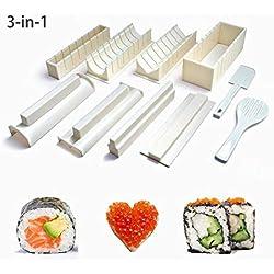 Ouken Easy Sushi Maker 10 pezzi, Sushi fare Set Kit per i bambini principianti
