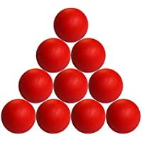 Pelotas de lacrosse en numérico de juego, diámetro 69mm rojo