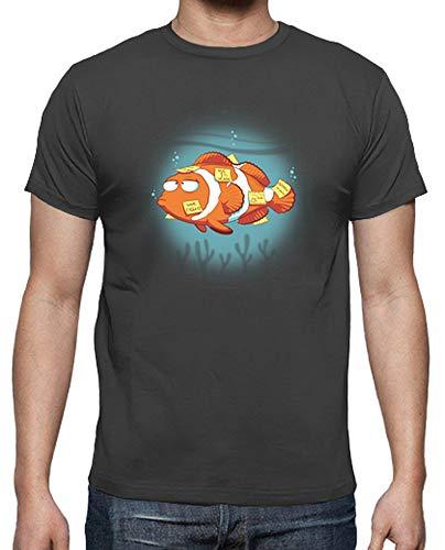tostadora - T-Shirt Speicher Fisch - Manner Graphite XXL -