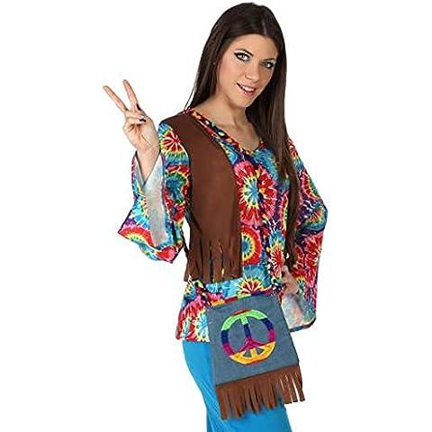 Atosa  - Solapa  bolso hippy multicolor flecos