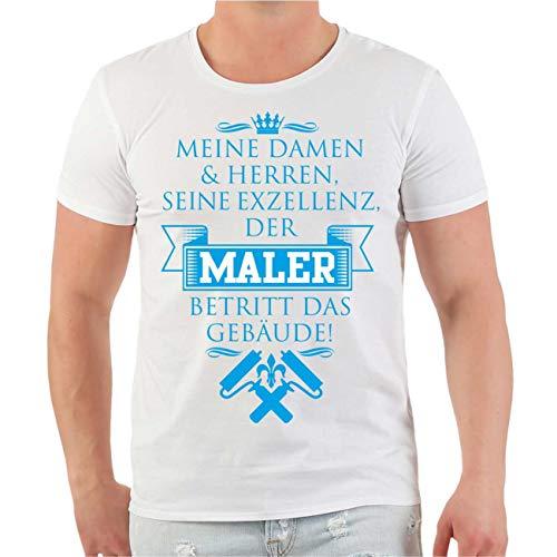 Männer und Herren T-Shirt Seine Exzellenz - DER Maler (Lackierer Maschine)
