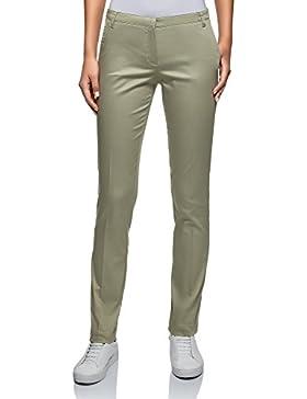 oodji Ultra Mujer Pantalones Básicos de Verano