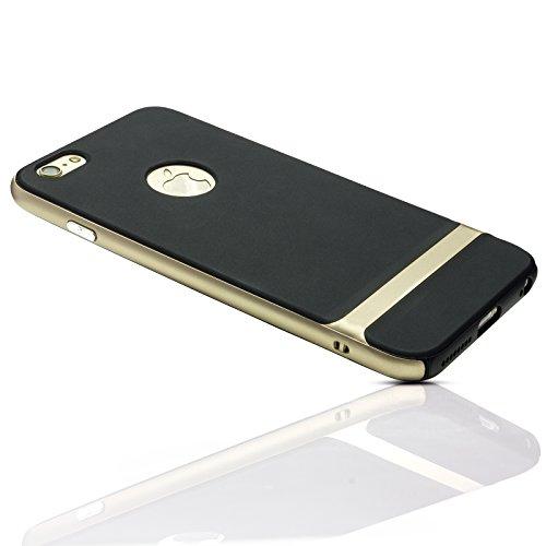 Mobilefox Viola Schutzhülle Hybrid Soft Case Apple iPhone 5/5S/SE Schwarz-Gold Schwarz-Rot