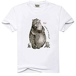 Camiseta de manga corta para hombre con estampado de oso de la marca LEFT bfff8c0d5848c