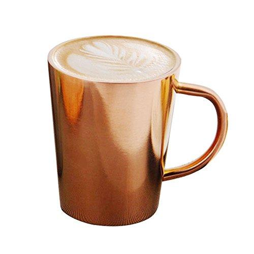 41dsUqvQT8L - gaeruite Doppelwandiger Edelstahl Kaffeebecher, Thermobecher, 350 ML-Kupfer überzogene Kaffeetasse-Doppelschichten 304 Hochtemperatur-Widerstand-Milch-Tee-Becher