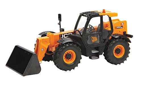 Preisvergleich Produktbild TOMY Britains - JCB 550-80 Teleskop-Radlader - Traktor aus Metall und Kunststoff mit ausziehbarem Arm, Hinterradsteuerung und abnehmbarem Zubehör - für Kinder ab 3 Jahre