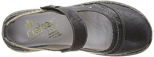 Rieker 46378/00, Chaussures de ville femme Noir (Schwarz/Altgold/Schwarz)