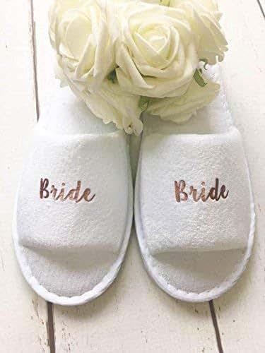 Hen Wedding Slippers spa Personalised Slippers Bridesmaid Bride,Bridal