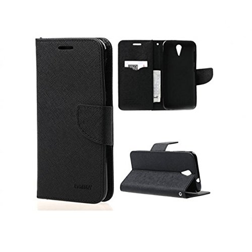 BRAND AFFAIRS Luxury Mercury Goospery Fancy Wallet Imported Original Premium Quality Fancy Folding Flip Folio with Stand View Faux Leather Mobile Flip Cover and 2 cards slot Stand Case Cover For Samsung Galaxy S Duos S7562 / GT-S7562 (Black)  available at amazon for Rs.199